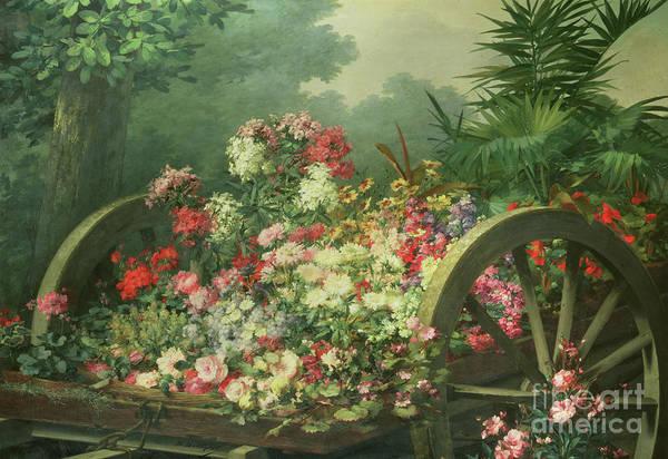 Wall Art - Painting - The Flower Barrow by Desire de Keghel