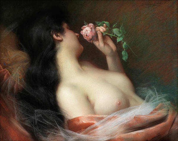 Wall Art - Painting - The Flower by Delphin Enjolras