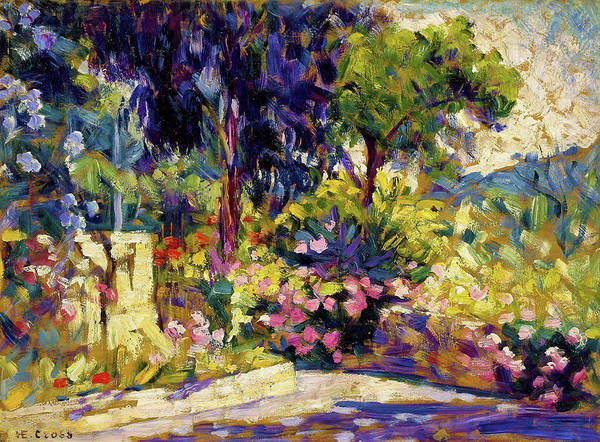 Wall Art - Painting - The Flowered Terrace - Digital Remastered Edition by Henri Edmond Cross