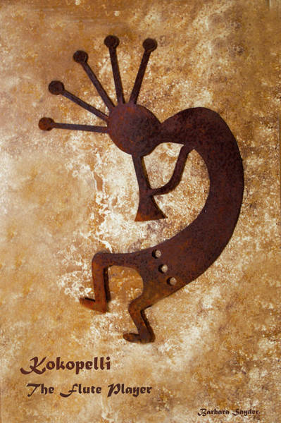 Wall Art - Digital Art - The Flute Player Kokopelli  by Barbara Snyder