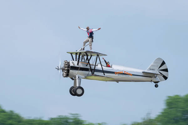 Photograph - The Flying Circus Wingwalker by Todd Henson