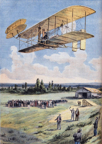 The Flying Men, Wilbur Wright 1867-1912 Art Print