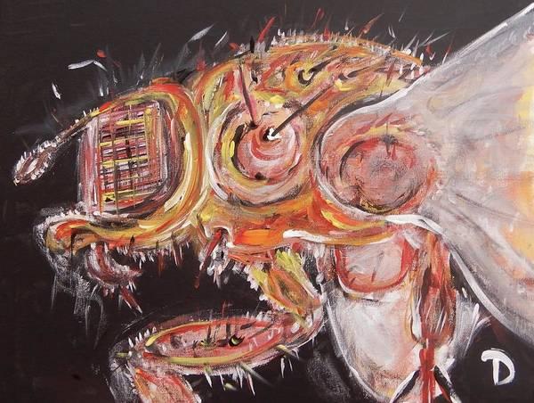 Wall Art - Painting - The Flyz by Debora Lewis