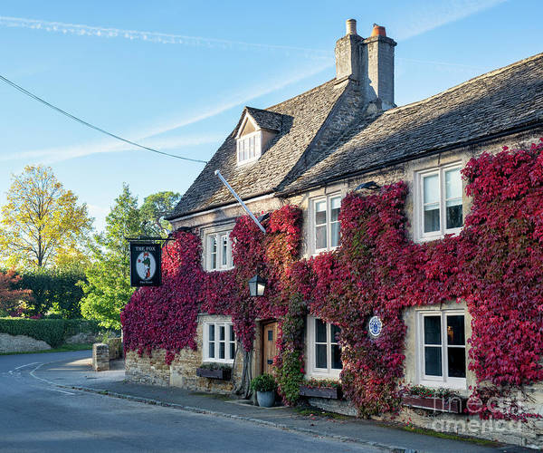 Wall Art - Photograph - The Fox Inn At Lower Oddington In Autumn by Tim Gainey