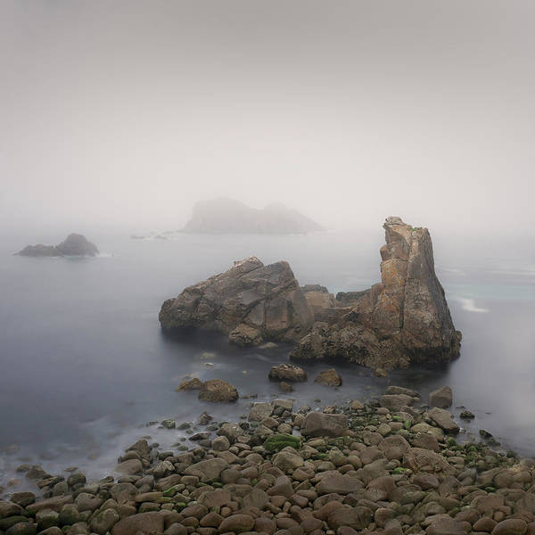 Galicia Photograph - The Fog On The Beach by Elena Pueyo