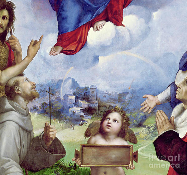 Wall Art - Painting - The Foligno Madonna, Detail by Raphael