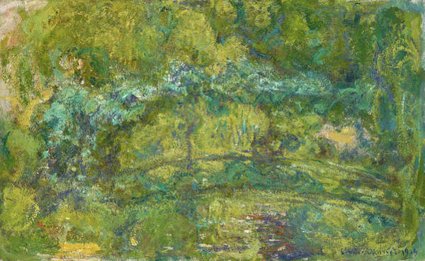 Wall Art - Painting - The Footbridge Over The Water-lily Pond, 1919 by Claude Monet
