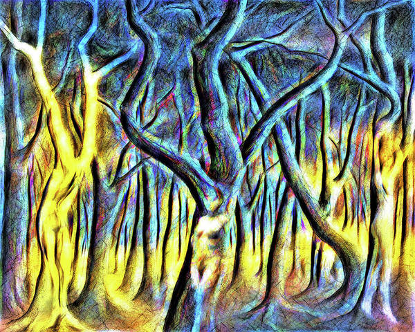 Wall Art - Digital Art - The Forest by John Haldane