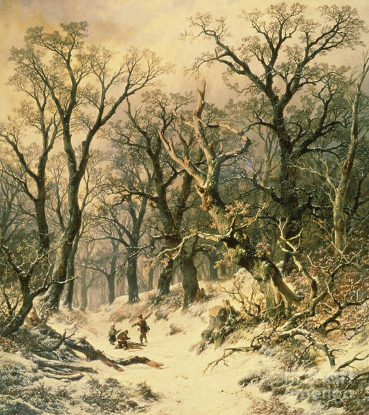 Wall Art - Painting - The Forest by R Van Hannen