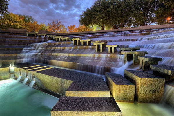 Photograph - The Fort Worth Water Gardens by JC Findley