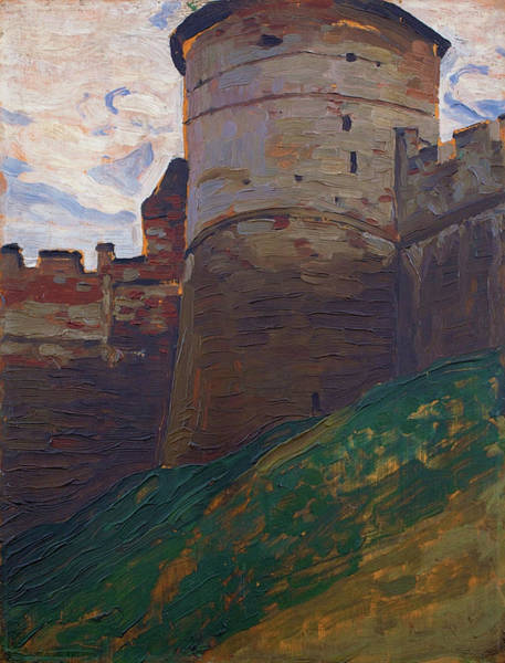 Renaissance Painters Wall Art - Painting - The Fortress Tower, Nizhny Novgorod - Digital Remastered Edition by Nicholas Roerich