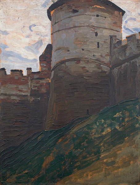 Painting - The Fortress Tower. Nizhny Novgorod. From The Series Of Architectural Sketches by Nicholas Roerich