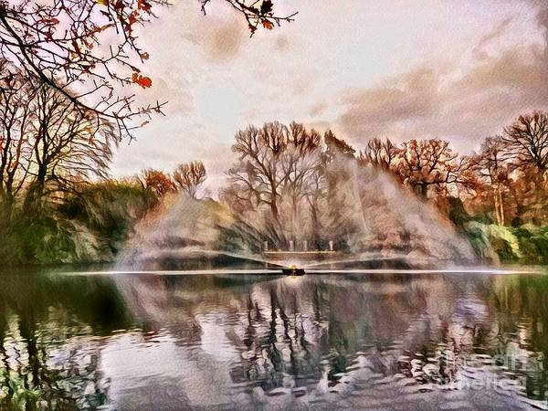 Digital Art - The Fountain by Abbie Shores