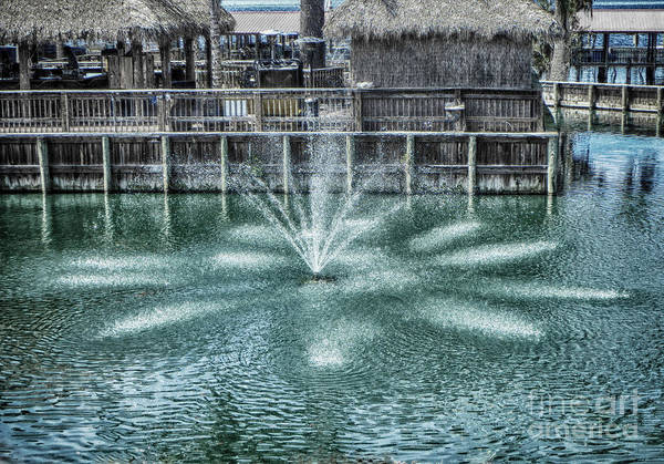 Photograph - The Fountain At Renegades by Judy Hall-Folde