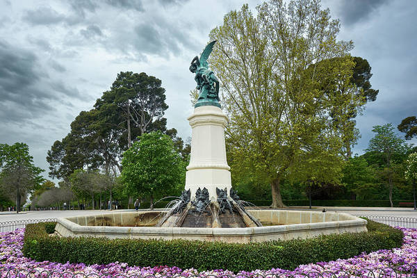 Photograph - The Fountain Of The Fallen Angel In Madrid by Fine Art Photography Prints By Eduardo Accorinti
