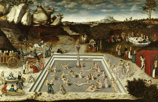 Cranach Painting - The Fountain Of Youth, 1546 by Lucas Cranach