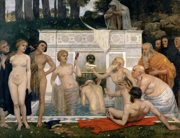 Wall Art - Painting - The Fountain Of Youth by Hans Sandreuter