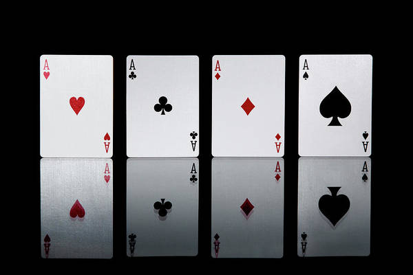 Luck Photograph - The Four Aces From A Pack Of Playing by Sasha Weleber