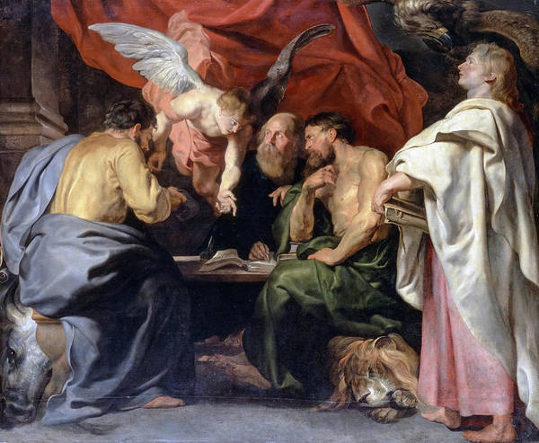 Wall Art - Painting - The Four Evangelists, 1614 by Peter Paul Rubens
