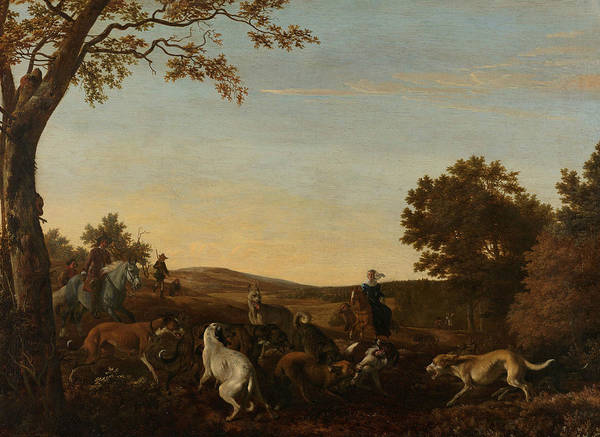 Painting - The Fox Hunt by Ludolf Leendertsz de Jongh