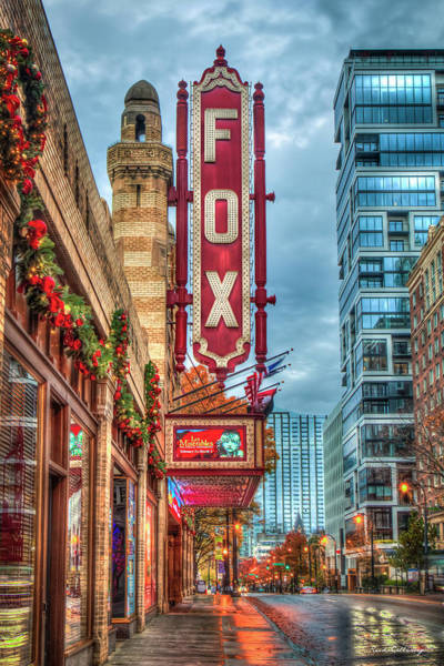 Wall Art - Photograph - The Fox Theatre Christmas Midtown Atlanta Georgia Art by Reid Callaway