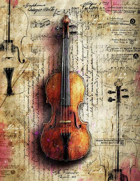 Wall Art - Digital Art - The Francesca Stradivari by Gary Bodnar