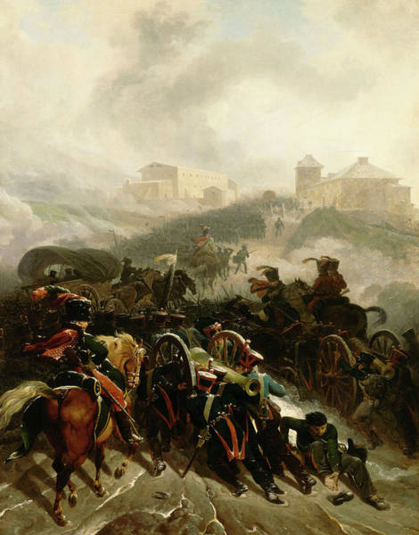 Wall Art - Painting - The French Army Crossing The Sierra De Guadarrama by Nicolas-Antoine Taunay