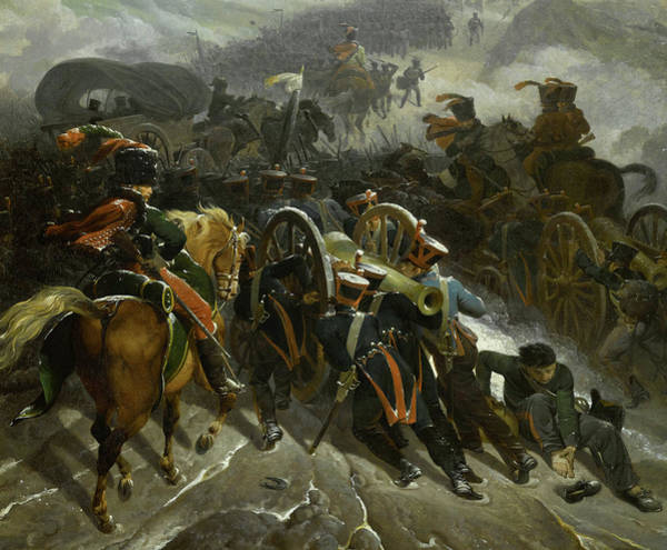 Wall Art - Painting - The French Army Crossing The Sierra De Guadarrama, Spain, 1808 by Nicolas-Antoine Taunay