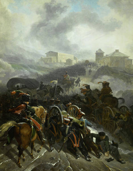 Wall Art - Painting - The French Army Crossing The Sierra De Guadarrama, Spain, December 1808 by Nicolas-Antoine Taunay