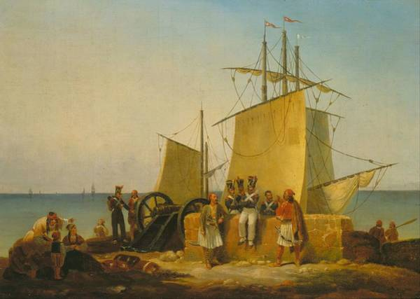 Peloponnese Painting - The French Mission To The Morea  Peloponnese   by Finert Noel D