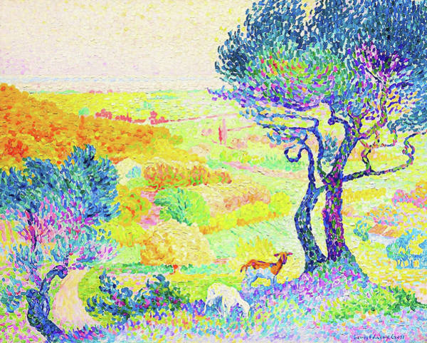 Wall Art - Painting - The Full Of Bormes - Digital Remastered Edition by Henri Edmond Cross