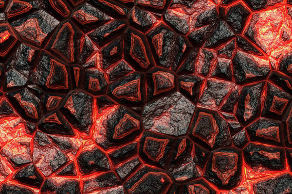 Digital Art - The Future Of Orange Stone by Don Northup