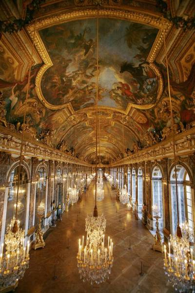 Versailles Wall Art - Photograph - The Galar Of Glasses In Versailles by Raphael Gaillarde