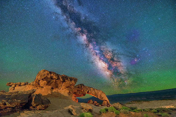 Photograph - The Galaxy And The Arch by Ralf Rohner