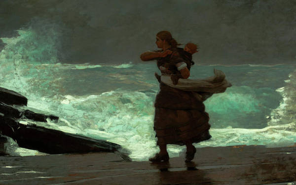 Wall Art - Painting - The Gale, 1893 by Winslow Homer