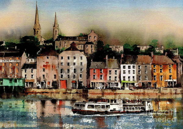 Painting - The Galley Off New Ross, Wexford by Val Byrne