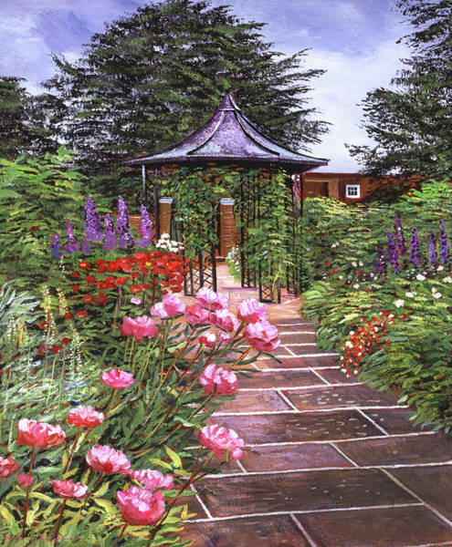 Painting - The Garden Arbor by David Lloyd Glover