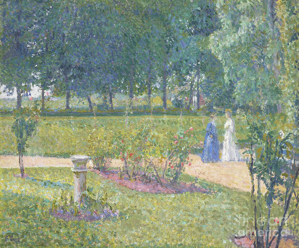 Wall Art - Painting - The Garden, Garth House, 1908 by Spencer Frederick Gore