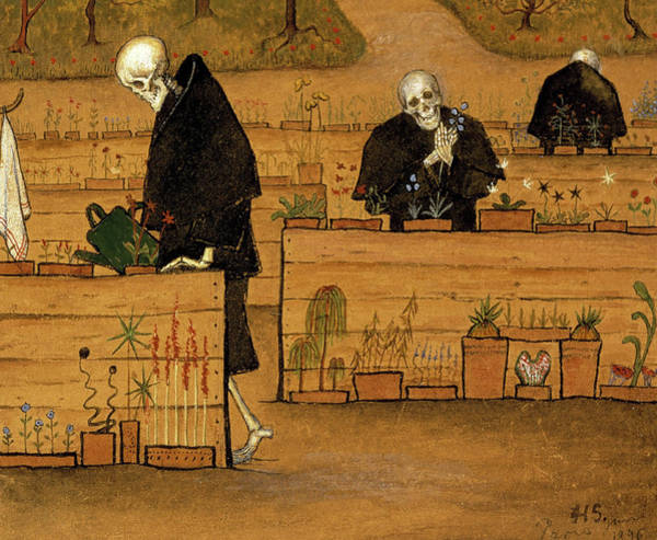 Wall Art - Painting - The Garden Of Death, 1896 by Hugo Simberg