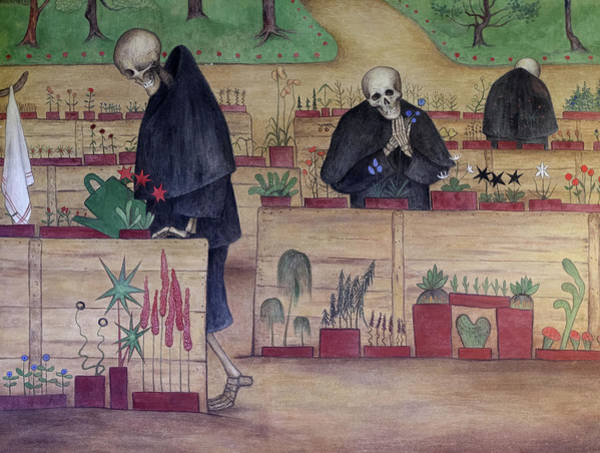 Wall Art - Painting - The Garden Of Death, Grim Reaper by Hugo Simberg