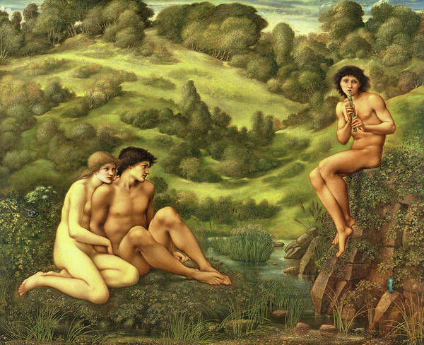 Wall Art - Painting - The Garden Of Pan - Digital Remastered Edition by Edward Burne-Jones