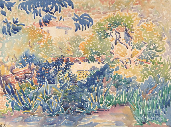 Wall Art - Painting - The Garden Of The Artist At Saint Clair by Henri-Edmond Cross