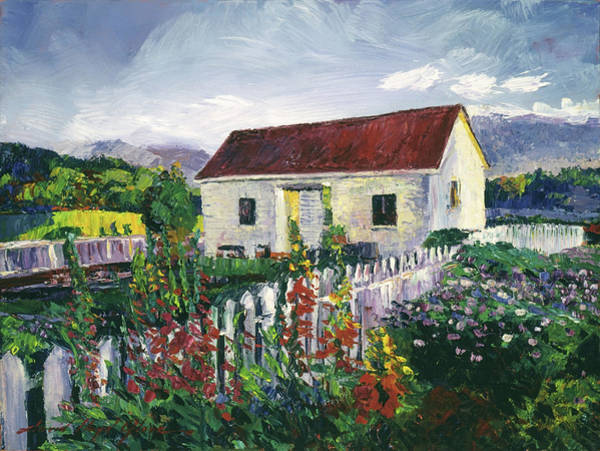 Painting -  The Gardener's Workshed by David Lloyd Glover