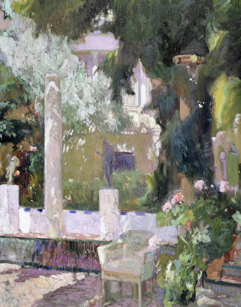 Wall Art - Painting - The Gardens At The Sorolla Family House - Digital Remastered Edition by Joaquin Sorolla