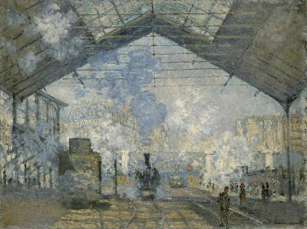 Gare Painting - The Gare Saint Lazare        by Claude Monet