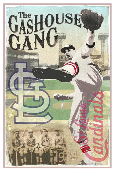 Sportsman Digital Art - The Gashouse Gang - St. Louis Cardinals by Aswego Arts