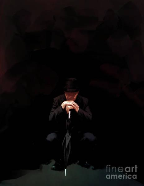 Crouching Digital Art - The Gentleman by Marissa Maheras