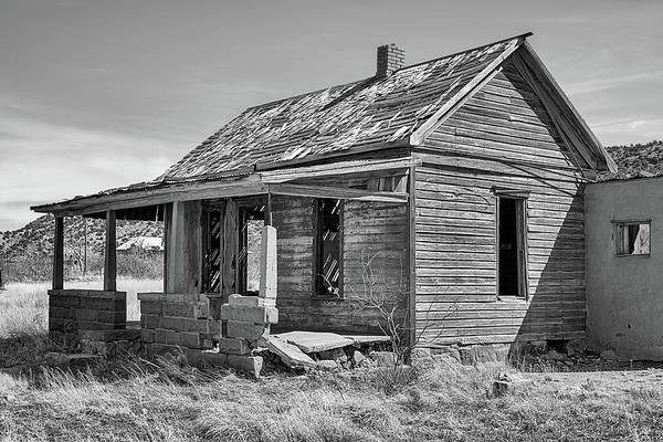 Photograph - The Ghost Town Of Cuervo Black And White by JC Findley