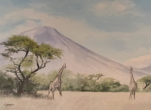 Painting - The Giraffe by Said Marie