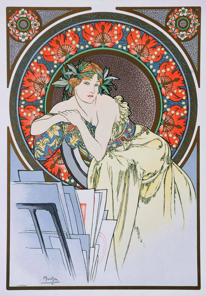 Alfons Mucha Painting - The Girl Of The Doll - Digital Remastered Edition by Alfons Maria Mucha